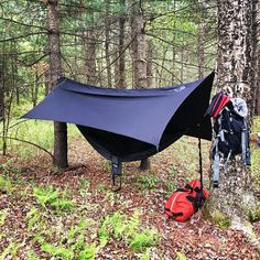 Memorial Day Weekend.  Hammock life > Tent life.  Thanks to the guys over at @enohammocks for the great setup and for keeping me off the ground and dry all weekend.  #hammocklife #campcampcity #lackawaxen2016 #mdw #theshieldsclan by @kindofabigdealshields