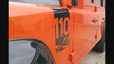 LAND ROVER DEFENDER 110 DECAL Wing Fender Sticker Adventure Expedition 4x4 Awd | eBay