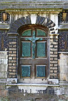 Church door at St Peter Mancroft. Norfolk, England.