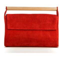 MERAKI Ataraxia Red Clutch (580 PEN) ❤ liked on Polyvore featuring bags, handbags, clutches, red purse, genuine leather purse, red leather purse, real leather purses and red leather handbags