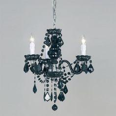 3 light black acrylic chandelier. 308-5BL Endon LightingStunning 5 ...