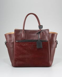 Reed Krakoff.... how you make me wish I was rolling in it. This Cordovan leather and calf hair Atlantique Tote is absolute perfection!