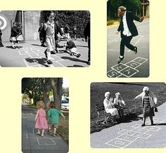 there is obviously no age limit to play Hopscotch ~ Old Wellington Region 10 Feb 2015