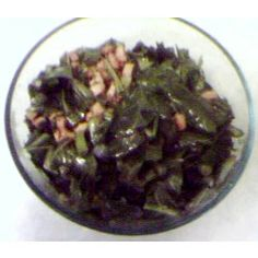 Drunken Collard Greens, yummy, made these with ale beer, crushed red pepper, ham hocks, of course garlic, onions and finished with rice vinegar. My own version, original on all recipes.com