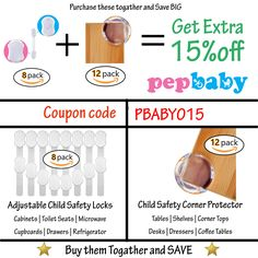 Baby Proofing Corner Protector Guards Pack] Child Safety Edge/Cushion Corner Guard to Keep Children Safe from Furniture's Sharp Corners - Great Baby Shower Gift Microwave Table, Baby Proof Cabinets, Cupboard Drawers, Child Safety Locks, Childproofing, Cool Baby Stuff, Baby Products, Baby Shower Gifts, Packing