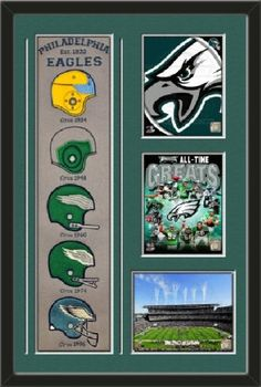 Philadelphia Eagles Banner With Logos - Philadephia Eagles Logo photo, Philadephia Eagles All Time Greats Composite photo, Lincoln Finanacial Field photo Framed With Different Team Photos-Awesome & Beautiful-Must For Any Fan! Art and More, Davenport, IA http://www.amazon.com/dp/B00GV2AVDW/ref=cm_sw_r_pi_dp_2giHub0KJCA90
