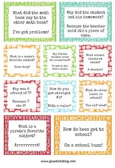 Printable Lunch Box Jokes To Bring a Smile At Lunchtime! The Country Chic Cottage – DIY, crafts, recipes, home decor, farmhouse style Printable Lunch Box Jokes To Bring a Smile At Lunchtime! Back to School Lunch Box Jokes (Printable) Kids Lunch For School, Back To School, School Lunches, Kid Lunches, School Fun, Kid Snacks, Healthy Lunches, Lunch Snacks, School Ideas