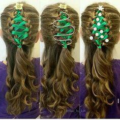 Christmas hair.