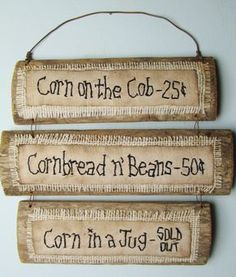 MOONSHINE Hillbilly PRIMITIVE sign on RECLAIMED by CornCobCove, $25.00
