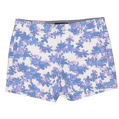 Banana Republic Khaki Shorts ($23) ❤ liked on Polyvore featuring shorts, light purple, banana republic shorts, cotton shorts, banana republic and khaki shorts