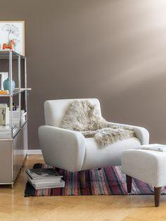 Micasa Wohnzimmer mit Sessel GRASS & Regal FLEXCUBE Armchair, Shelf, Living Room, Homes, Haus