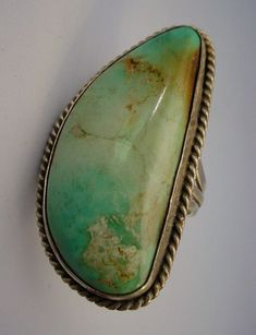 Beautiful Large Native American Turquoise Ring