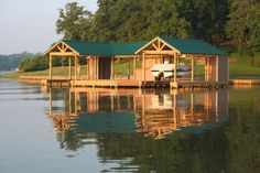 The Playground Boat Dock by Golden Construction, LLC - Texas Boat Docks, Fishing Piers, Bulkheads and other shoreline improvements. Lake Dock, Boat Dock, Haus Am See, Lakefront Property, Boat Slip, Lake Life, Water Crafts, Rustic Design, Cool Places To Visit