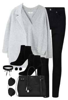 """""""Untitled #3113"""" by theaverageauburn on Polyvore featuring MANGO, Yves Saint Laurent, 3.1 Phillip Lim and Boohoo"""