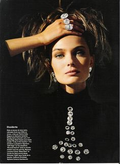 Vogue France 1989 feat..Paulina Porizkova