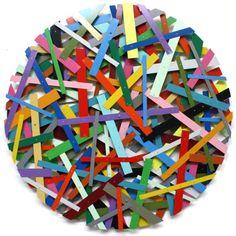 Bert Zoderer, sculpture, color, confetti, art, artists, installations