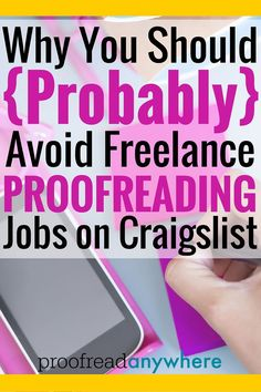 Proofreading as a career