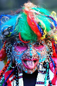Guiness World Record holder for most piercings in a body. The Brazilian woman has over 500 piercings in her vagina..eewww!!!