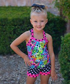 Look what I found on #zulily! Lexi-Luu Designs Pink & Navy Polka Dot Tank & Shorts - Toddler & Girls by Lexi-Luu Designs #zulilyfinds