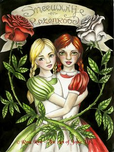 Snow-White and Rose-Red by ~Laiyla on deviantART
