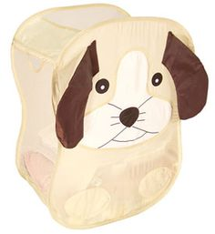 The Dog Collapsible Hamper is a cute way to store clothes and it can also be used as a toy bin for excess toys around the bedroom.