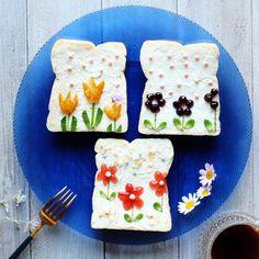 2017.05.19 #ToastArt ・ 作ってみたかった#柄トースト ・ むずかしぃ私にはこれが限界 私的には渾身の作(笑) 意気揚々と夫に見せたら… 「小学生が作ったんだったら かわいくできたねえって褒めてあげる」 、、、、、撃沈(-.-;) ・ #トーストアート#オープンサンド