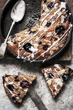 cherry almond chocolate chip blondies