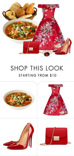 """Minestrone"" by sjlew ❤ liked on Polyvore featuring Christian Louboutin and Irene Neuwirth"