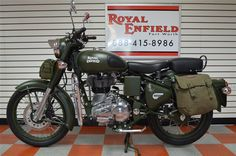2015 New ROYAL ENFIELD BULLET C5 MILITARY BATTLE GREEN UPGRADE at MJ Sales Cycles Serving Ft. Worth, TX, IID 13328202