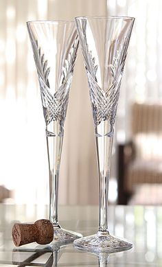 waterford wishes beginnings flutes pair - Waterford Champagne Flutes