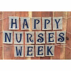 Nurses Week Burlap Banner Nurse Appreciation May 6-12th by QueensBanners