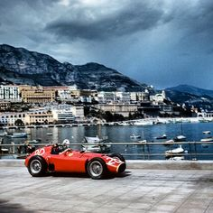 Juan Manuel Fangio and his Ferrari - Monaco 1956..