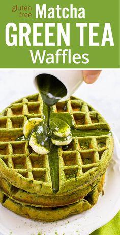 matcha green tea waffles protein rich healthy matcha green tea waffles ...