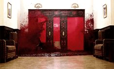 The official trailer for The Shining included the bloody elevator scene but back then fake blood was illegal so nobody knows how Stanley Kubrick obtained hundreds of gallons of blood Movie Gifs, Movie Facts, Horror Films, Horror Stories, Manado, Jhin The Virtuoso, Stanley Kubrick The Shining, I Love Cinema, Arte Horror