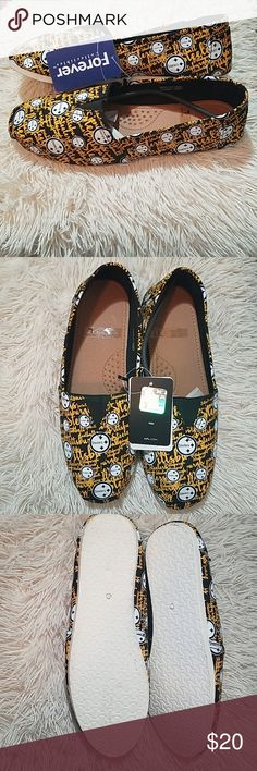 d3f551d67aa STEELERS Canvas Shoes NWT NFL Canvas Shoes Forever Collectibles Shoes Flats    Loafers Canvas