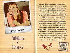 Rocío cuenta su experiencia en el área de Finanzas y Legales