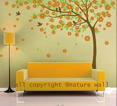 Kids wall decal Cherry blossom  tree decals baby by NatureWall, $74.00