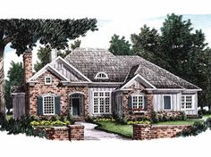 Eplans Cottage House Plan - Best of Luxury Living - 3418 Square Feet and 4 Bedrooms(s) from Eplans - House Plan Code HWEPL09372