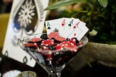 Casino Party Theme Ideas:Cards and chips in a margarita glass. 우리카지노◆▓▶ CK6000.COM ◀▓◆