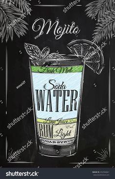 Image result for mojito blackboard