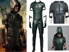 New Green Arrow Season 4 Oliver Queen Cosplay Costume Superhero Custom-Made Tv Character Costumes, Green Arrow Costume, Arrow Cosplay, Nightwing Cosplay, Arrow Season 4, Pokemon Cosplay, Batman Vs Superman, New Green, Black Canary