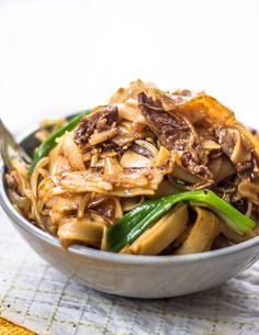 The Best Beef Stir Fry with Flat Rice Noodles #asian #Dinner