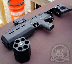 I believe this one is called the Goliath 12G has integrated suppressor