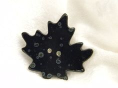Black Maple Leaf Button by naturebuttons on Etsy, $4.00