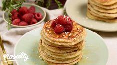 Túrós-zabos amerikai palacsinta | Nosalty Pancakes, Protein, Brunch, Menu, Breakfast, Food, Menu Board Design, Morning Coffee, Essen