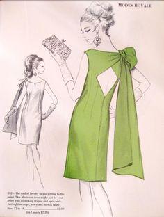 Vintage Sewing Personalized Photo Charms Compatible with Pandora Bracelets. Brini Maxwell: Fashion A La Mode - Modes Royale Patterns Motif Vintage, Vintage Dress Patterns, Clothing Patterns, Vintage Dresses, Vintage Outfits, 1960s Fashion, Vintage Fashion, Fashion Sewing, Fashion 2018