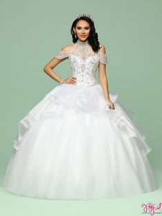 Custom quinceanera dresses in bright colors! These quince dresses can be made in any color. Lots of vestidos de quinceanera to choose from. White Quinceanera Dresses, Quinceanera Party, Quinceanera Decorations, Quince Dresses, 15 Dresses, Skirt Fashion, Fashion Dresses, Quinceanera Collection, Full Length Gowns