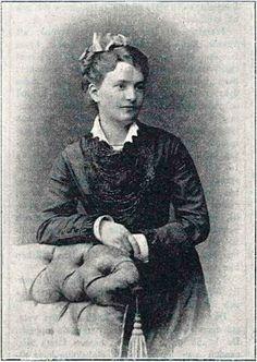 Susen Rydberg (Hasselblad) år 1878 under hennes förlovningstid med Viktor Rydberg.