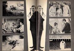 JAMES BOND - DR. NO - Japanese movie program (R1972) - inside pages