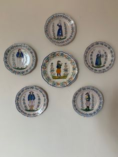 Charming collection of Quimper plates